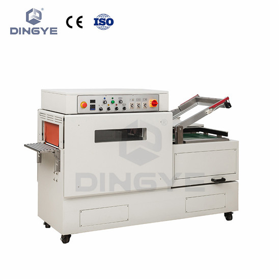 Continuous sel-cut-shrink combined machine