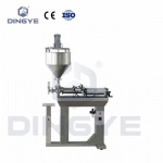 Table type paste filler with mixing hopper